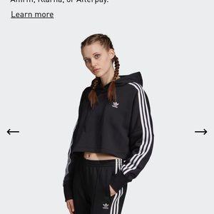 adidas originals cropped hoodie sweatshirt